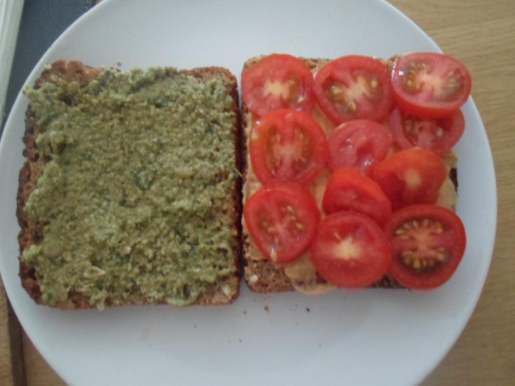 Roasted Eggplant and basil pesto sandwichSimple Vegan Cooking