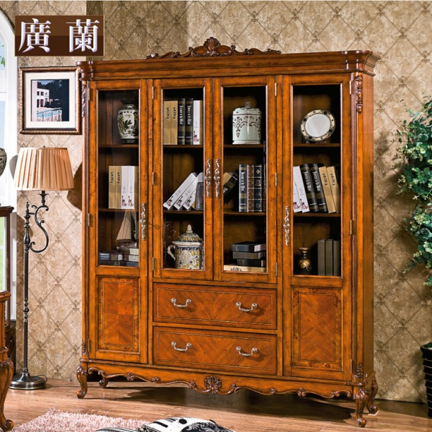 American-style-solid-wood-bookcase-1-8-meters-combination-of-font-b-large-b-font-bookcase