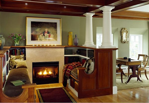 cozy-reading-nook-with-bookcase-and-fireplace