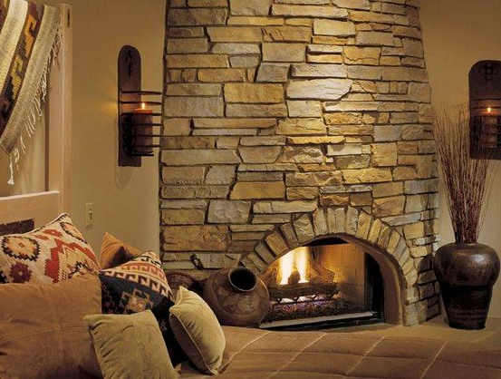 country-style-corner-round-fireplace-stone-tile