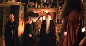 Hagrid's_hut_with_visitors_Malfoy_Fudge_Dumbledore