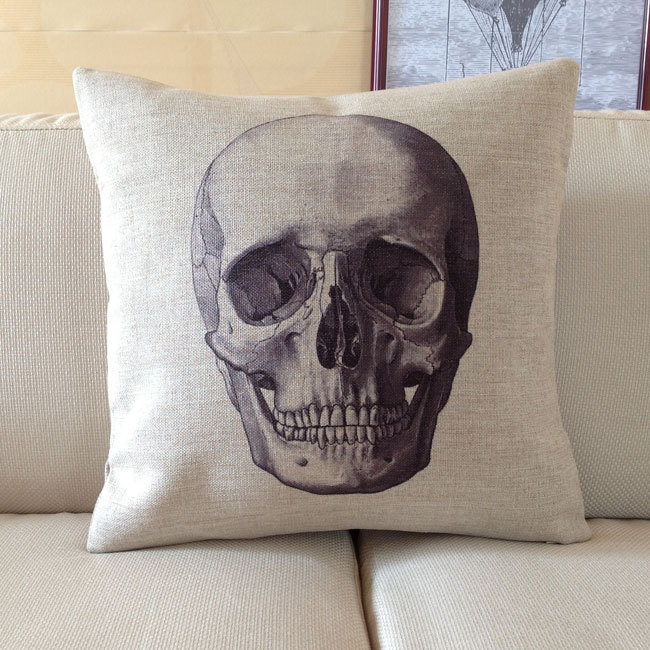 Skull Decorative Pillows Skull 6 E875c2d2a6bd38ed7a85ddb791f6f9ed Offbeat Home Decor